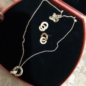 Jewelry - Roman Numerals earring & pendant necklace